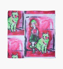 Neon Cat and Space Girl Scarf