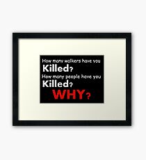 The walking dead - Questions Framed Print
