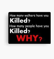 The walking dead - Questions Canvas Print