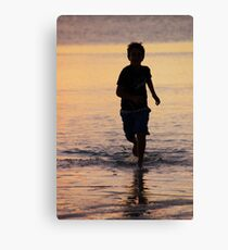 Sunset runner, Coral Bay Western Australia Canvas Print