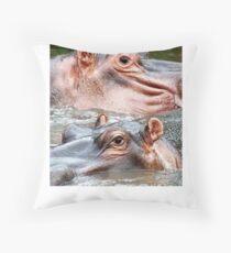 ANIMAL KINGDOM - HIPOPOTAMUS- AMPHIBIUS   Throw Pillow
