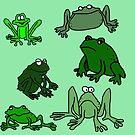 «Dibujos animados de rana fabulosamente divertido» de jaggerstudios