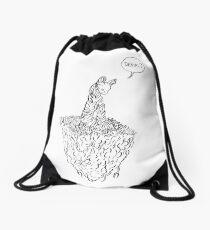 Denial cat Drawstring Bag