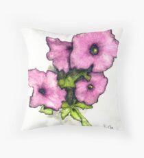 Petunia Nosegay Throw Pillow