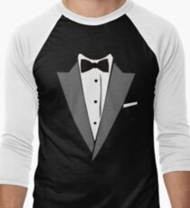Casual Tuxedo Men's Baseball ¾ T-Shirt
