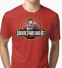 Jurassic Parks and Rec Tri-blend T-Shirt
