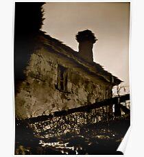 A pond reflection - Villa Parma Hepburn Springs Poster