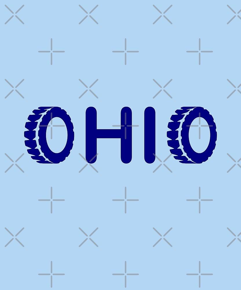 Ohio Tires Angle Light-Monotone by TinyStarAmerica