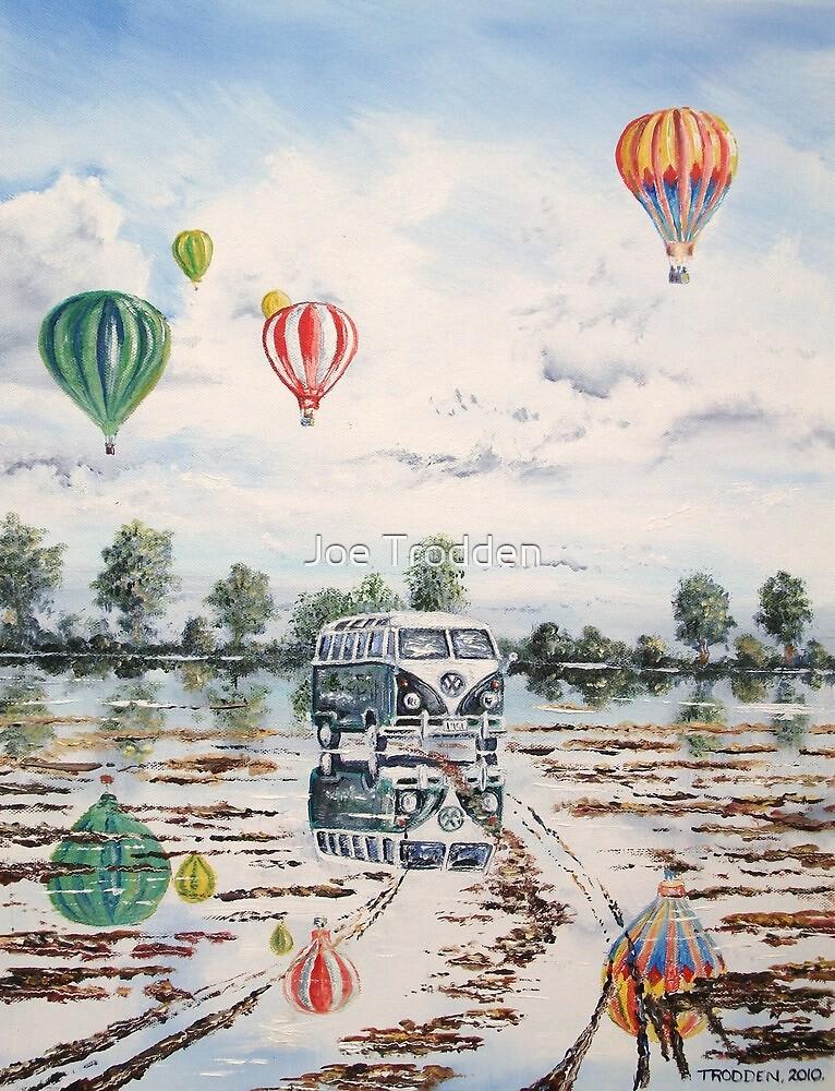 Reflections in a waterlogged field. by Joe Trodden