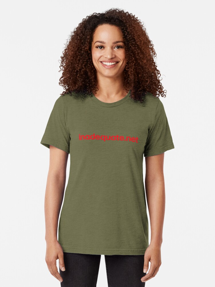 Alternate view of inadequate.net | an examination of free will | William O. Pate II Tri-blend T-Shirt