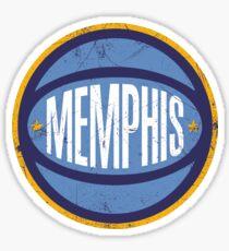 Memphis Retro Ball - Navy Sticker
