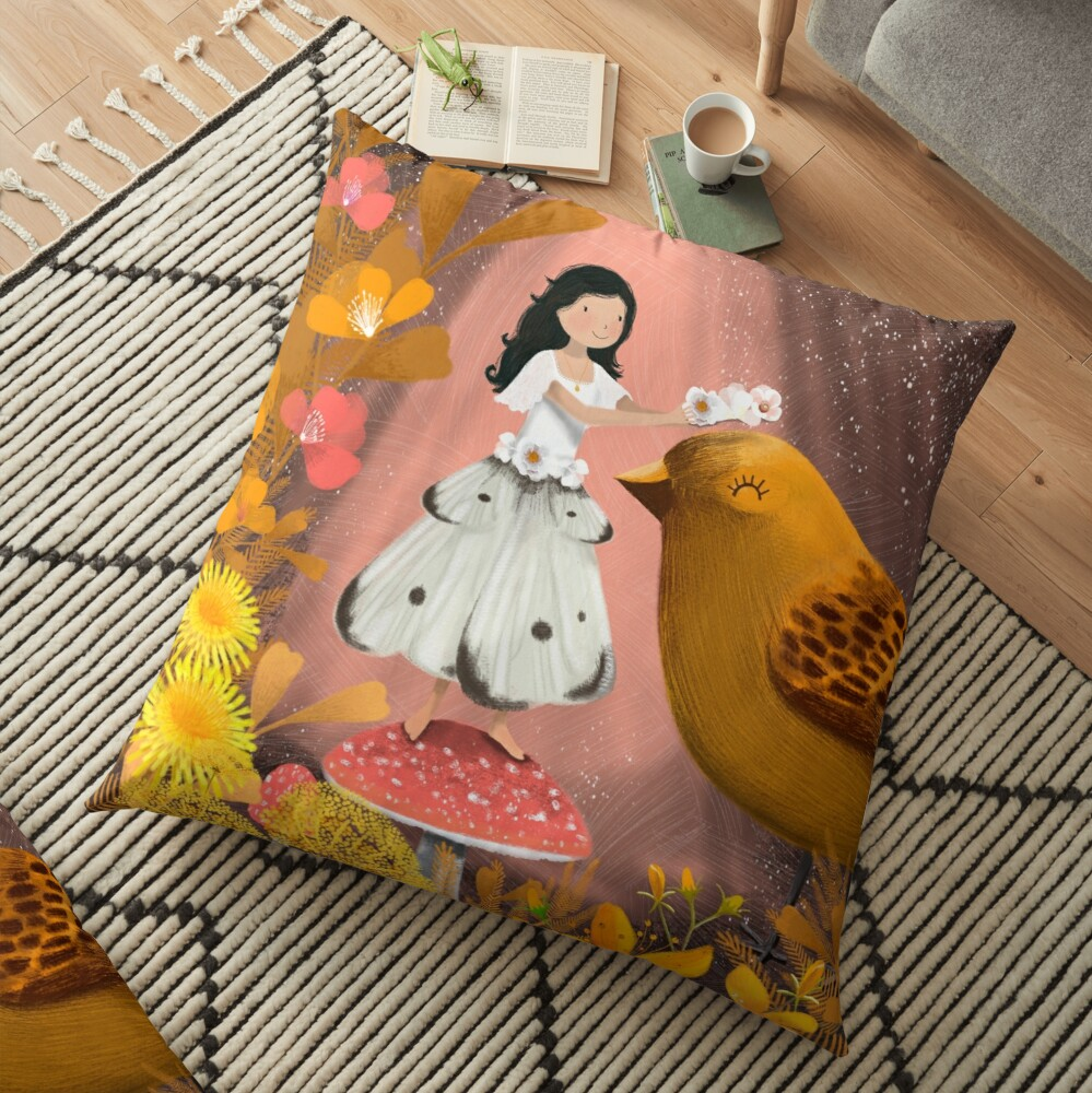 Honouring the Birds Floor Pillow