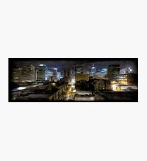 Night Cityscape Oil Painting Photographic Print