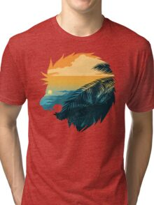 Angry lion from the jungle Tri-blend T-Shirt
