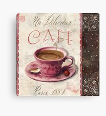 Patisserie Damask Coffee Cup Canvas Print