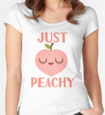 Just Peachy Fitted Scoop T-Shirt