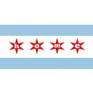Chicago nach Hause Flagge von Lauren Scott