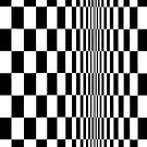 Movement in Squares, by Bridget Riley 1961, chess, tile, square, pattern, design, grid, mosaic, checkerboard, bank check, abstract Posters by znamenski