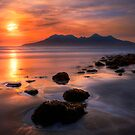 Sunset from Bay of Laig, Isle of Eigg, Scotland. by PhotosEcosse