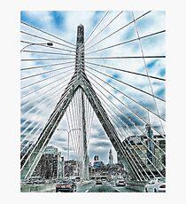 The Leonard P. Zakim Bunker Hill Memorial Bridge Photographic Print