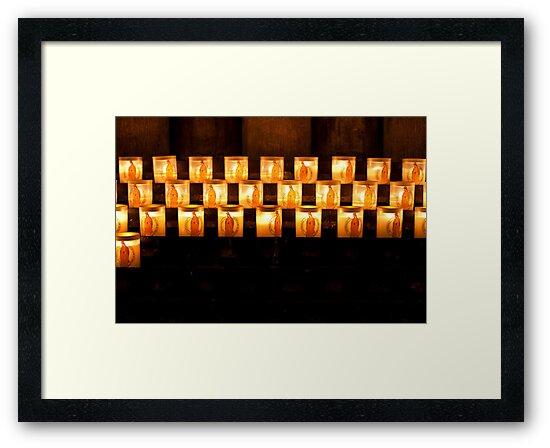 Candles, Notre Dame de Paris by Skye Hohmann