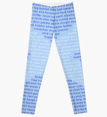 Scottish Words in a Saltire Leggings