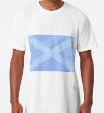 Scottish Words in a Saltire Long T-Shirt