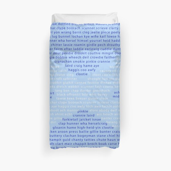 Scottish Words in a Saltire Duvet Cover