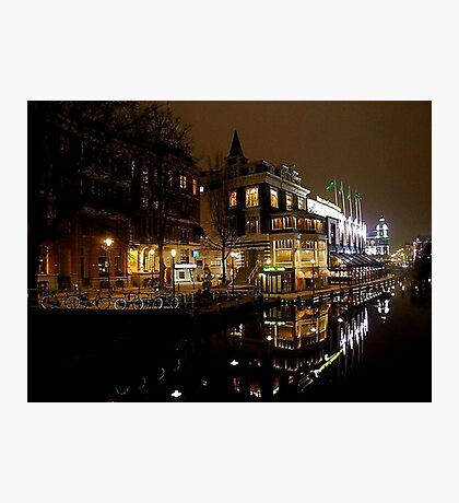 NIGHT REFLECTION AMSTERDAM Photographic Print