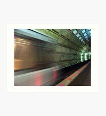 In the tunnel Kunstdruck