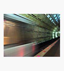 In the tunnel Fotodruck