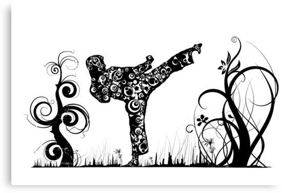 Martial Arts Kick by Steve's Fun Designs