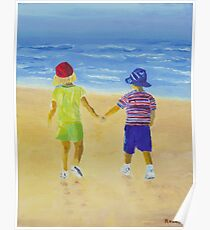 Walk on the Beach Poster
