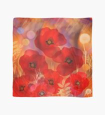 Hot summer poppies Scarf
