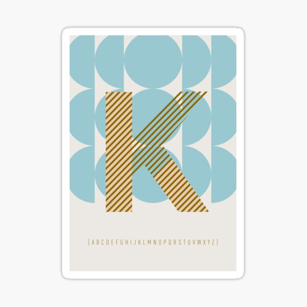 "Typeface ""K"" Sticker"