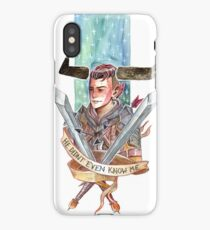 He Didn't Even Know me iPhone Case