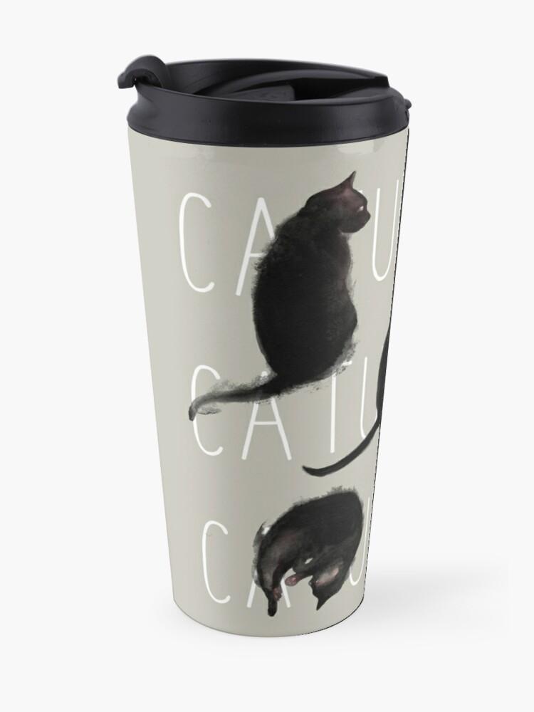 Alternate view of Caturdays - Black Cat Travel Mug