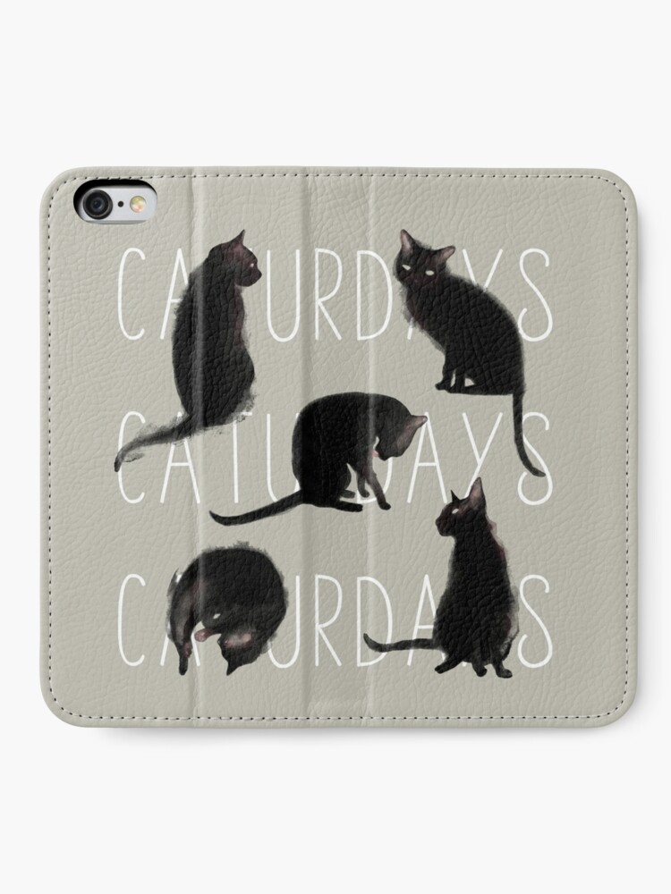 Alternate view of Caturdays - Black Cat iPhone Wallet