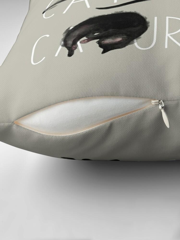 Alternate view of Caturdays - Black Cat Throw Pillow