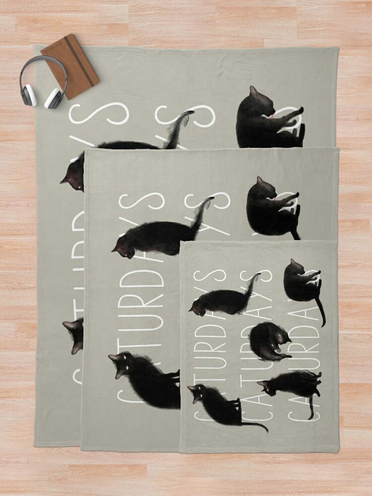 Alternate view of Caturdays - Black Cat Throw Blanket