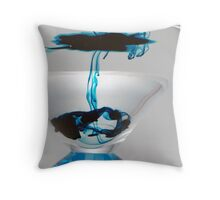 Light Box - Blue Martini Drizzle 2 Throw Pillow