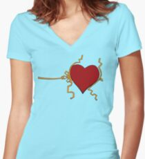 Three Sizes in One Day Women's Fitted V-Neck T-Shirt