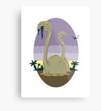 Primeval World - Brontosaurus Metal Print