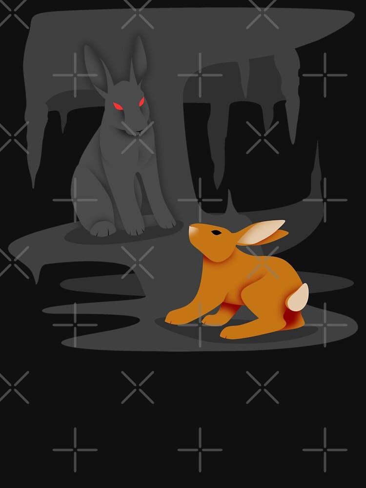 El-ahrairah and the Black Rabbit of Inlé by DeguArts
