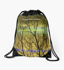 Challenge Runner-up Banner for Sunrise/Sunset 'Scapes Drawstring Bag