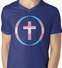 Christian (Blue, Pink, White) Third Culture Series V-Neck T-Shirt
