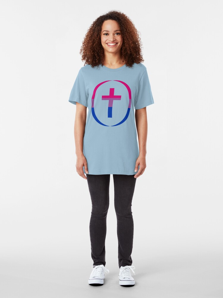 Alternate view of Christian (Blue, Pink, White) Third Culture Series Slim Fit T-Shirt