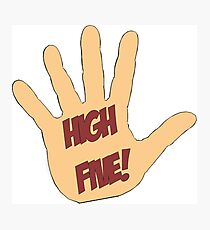 High Five! in comic style Photographic Print