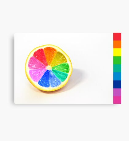 Pantone Colour Wheel Canvas Print