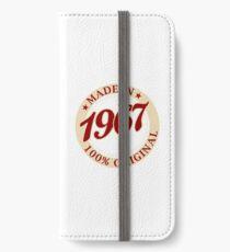 Born in 1967 Vintage iPhone Wallet/Case/Skin